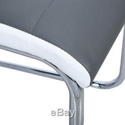Set of 2/4/6/8 Faux Leather Dining Chairs High Back Home Office Kitchen Chairs