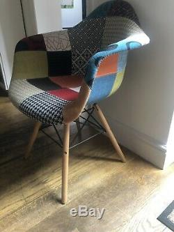 Set of 4 Eiffel Style Dining Chairs Armchair Solid Wooden Legs Office Chair
