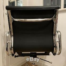 Soft Pad Office Chair Chrome Base Leather Vitra Dupe