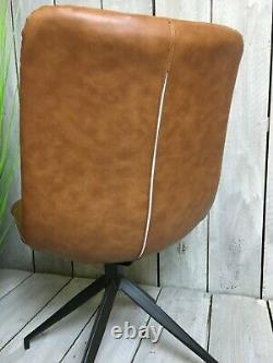 Soft Swivel Chair Retro Leather Office Chair