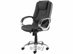 Staples Darcy Black Bonded Leather Executive Office Chair, Adjustable, Free P+P