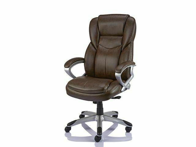 Staples Giuseppe Bonded Leather Executive Office Chair Adjust / Recline