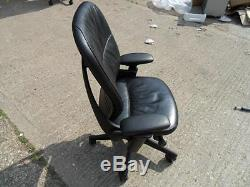 Steelcase Leap V1 Chair Original Black Leather SPECIAL OFFER FANTASTIC CONDITIO