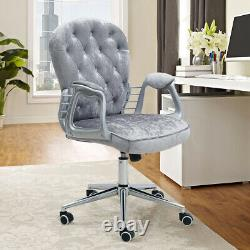 Swivel Computer Desk Chair Padded Home Office Executive Chair Adjustable Height