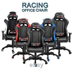 Swivel Game Chair Executive Racing Gaming Office Adjustable Chairs Computer PC