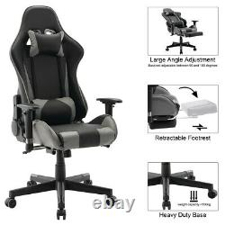 Swivel Racing Gaming Chairs Office Executive Recliner PC Computer Desk Chair UK