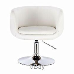 Swivel Retro Armchair Office Chair Egg Style Vintage Home Dressing Table Seat UK
