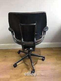 Tan Leather Humanscale Freedom Ergonomic Office Task Chair 2015 Model
