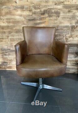 Timothy Oulton Swinderby swivel chair office industrial