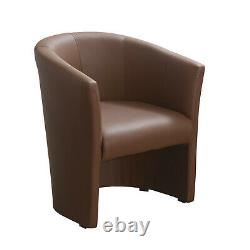 Tub Chair Lounge Living Room Office Armchair Fabric Faux Leather Single Fireside
