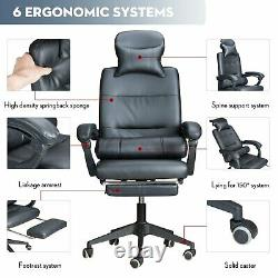 UK Luxury Massage Computer Chair Office Gaming Swivel Recliner Leather Executive