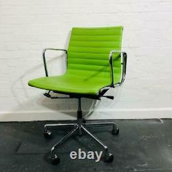 Used Elite Charles Eames EA 108 Leather Executive Office Chair, Green