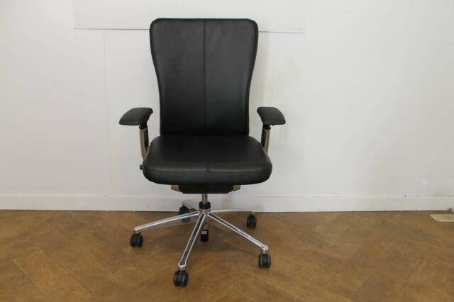 Used Haworth Zody/comforto 89 Leather Swivel Chair