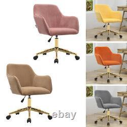 Velvet Office Chair Swivel Ergonomics Armchair Gaming Computer Desk Chair Chrome