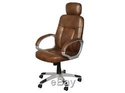 Viceroy Executive Office Armchair Tan Tan Leather Luxury Office Swivel Armchai