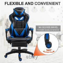 Vinsetto Ergonomic Racing Chair Recliner with Pillow, Footrest Home Office