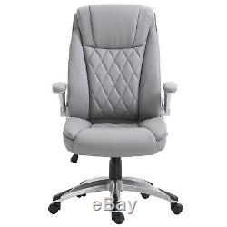 Vinsetto Executive Office Chair Adjustable Height 360°Smooth Rotating PU Leather