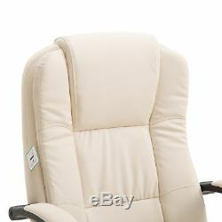 Vinsetto Executive Office Chair Ergonomic High Back PU Leather Seat 360° Swivel