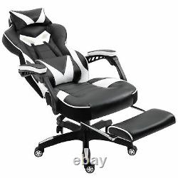 Vinsetto Gaming Chair Recliner with Wheels, Pillow, Footrest Home Office