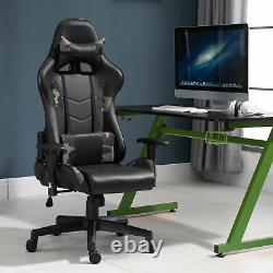 Vinsetto Gaming Office Chair with Massage Lumbar Support, Camouflage Panels Green