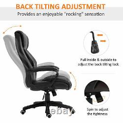 Vinsetto High Back 6 Points Vibration Massage Executive Office Chair, Black