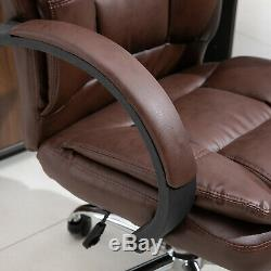Vinsetto High Back Executive Office Chair Ergonomic 360° Swivel PU Leather Seat