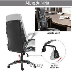 Vinsetto Office Chair Adjustable Height 360°Smooth Rotating PU Leather Black