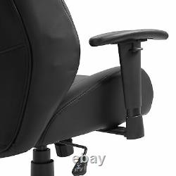 Vinsetto Office Chair Swivel Racer Chair Adjustable Height and Armrest PU White