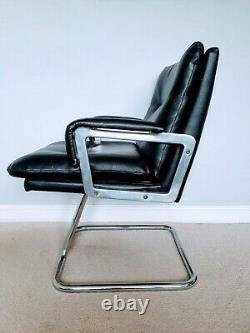 Vintage 1970s Executive Office Chair Black