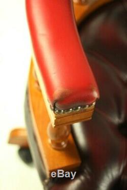 Vintage Chesterfield Leather Captains Desk Chair FREE Shipping 5717