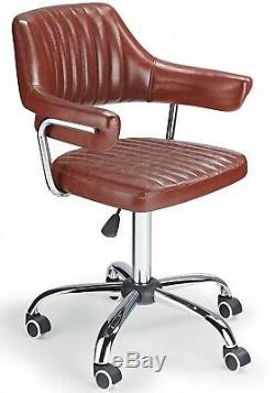 Vintage Desk Chair Swivel Computer PC Office Swivel Seat Antique Rustic Armchair