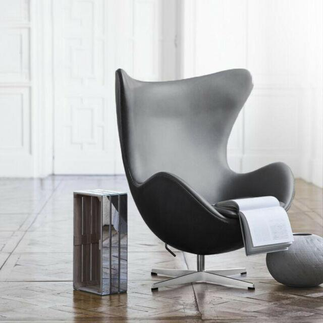 Vintage Retro Black Egg Chair Chair Normal Leather Living Room Office Furniture