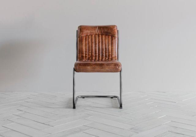 Vintage Tan Leather Chair Office