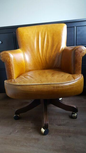 Vintage Leather Office Chair Great Condition
