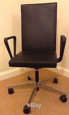 Vitra Chair, Leather Office Chair, Maarten Van Severen. 07