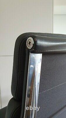 Vitra EA219 Eames grey leather Softpad ergonomic chair for luxury home office