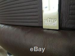 Vitra Mario Bellini vintage leather office chairs