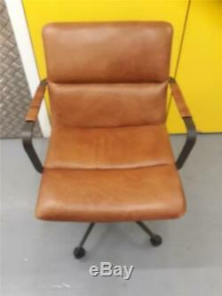West Elm Cooper Office Chair in Tan leather from John Lewis