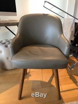West Elm Saddle Office Chair Leather