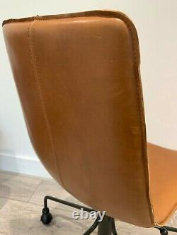 West Elm Slope Leather Office Chair