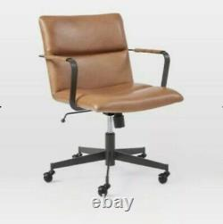 West elm Cooper Mid-Century Leather Swiver Office Chair, RRP £699