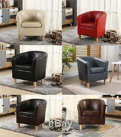 WestWood Faux Leather PU Tub Chair Armchair Dining Room Modern Office Furniture