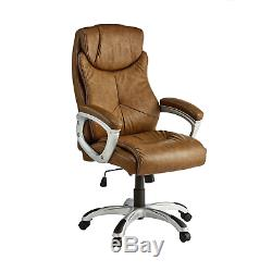 X-Rocker Leather Effect Executive Chair Brown OE100