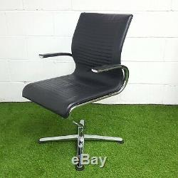 Zuco Riola Designer Meeting Chair, Swivel Base, Real Leather
